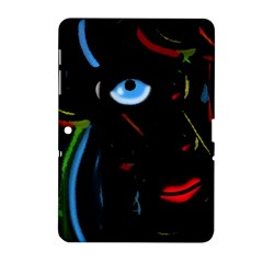 Black Magic Woman Samsung Galaxy Tab 2 (10 1 ) P5100 Hardshell Case  by Valentinaart