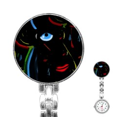Black Magic Woman Stainless Steel Nurses Watch by Valentinaart