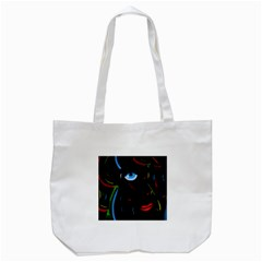 Black Magic Woman Tote Bag (white) by Valentinaart