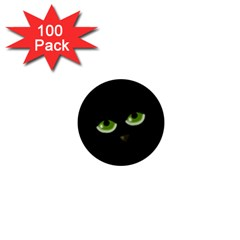 Halloween   Back Cat 1  Mini Buttons (100 Pack)  by Valentinaart