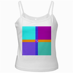 Right Angle Squares Stripes Cross Colored Ladies Camisoles by EDDArt