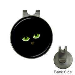 Halloween   Back Cat Hat Clips With Golf Markers by Valentinaart