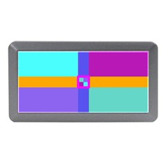 Right Angle Squares Stripes Cross Colored Memory Card Reader (mini) by EDDArt
