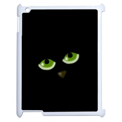 Halloween   Back Cat Apple Ipad 2 Case (white) by Valentinaart