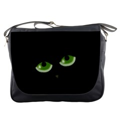 Halloween   Back Cat Messenger Bags by Valentinaart