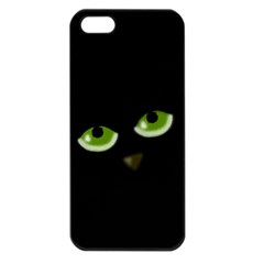 Halloween   Back Cat Apple Iphone 5 Seamless Case (black) by Valentinaart
