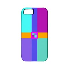 Right Angle Squares Stripes Cross Colored Apple Iphone 5 Classic Hardshell Case (pc+silicone) by EDDArt