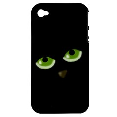 Halloween   Back Cat Apple Iphone 4/4s Hardshell Case (pc+silicone) by Valentinaart