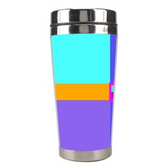 Right Angle Squares Stripes Cross Colored Stainless Steel Travel Tumblers by EDDArt
