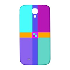 Right Angle Squares Stripes Cross Colored Samsung Galaxy S4 I9500/i9505  Hardshell Back Case by EDDArt