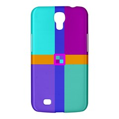 Right Angle Squares Stripes Cross Colored Samsung Galaxy Mega 6 3  I9200 Hardshell Case by EDDArt
