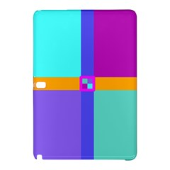 Right Angle Squares Stripes Cross Colored Samsung Galaxy Tab Pro 12 2 Hardshell Case by EDDArt
