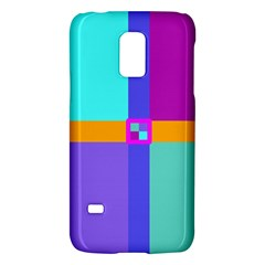 Right Angle Squares Stripes Cross Colored Galaxy S5 Mini by EDDArt