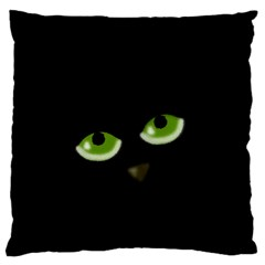 Halloween   Back Cat Large Flano Cushion Case (one Side) by Valentinaart