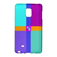 Right Angle Squares Stripes Cross Colored Galaxy Note Edge by EDDArt