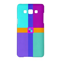 Right Angle Squares Stripes Cross Colored Samsung Galaxy A5 Hardshell Case  by EDDArt