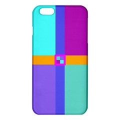 Right Angle Squares Stripes Cross Colored Iphone 6 Plus/6s Plus Tpu Case by EDDArt