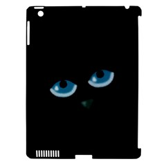 Halloween   Black Cat   Blue Eyes Apple Ipad 3/4 Hardshell Case (compatible With Smart Cover) by Valentinaart