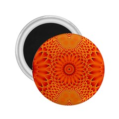 Lotus Fractal Flower Orange Yellow 2 25  Magnets by EDDArt