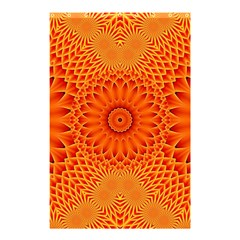 Lotus Fractal Flower Orange Yellow Shower Curtain 48  X 72  (small)  by EDDArt