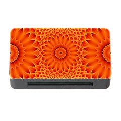Lotus Fractal Flower Orange Yellow Memory Card Reader With Cf by EDDArt