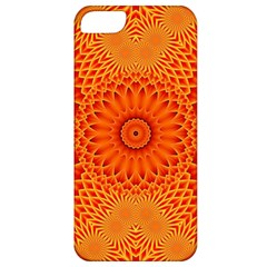 Lotus Fractal Flower Orange Yellow Apple Iphone 5 Classic Hardshell Case by EDDArt