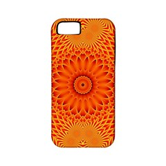 Lotus Fractal Flower Orange Yellow Apple Iphone 5 Classic Hardshell Case (pc+silicone) by EDDArt