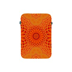 Lotus Fractal Flower Orange Yellow Apple Ipad Mini Protective Soft Cases by EDDArt