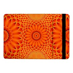 Lotus Fractal Flower Orange Yellow Samsung Galaxy Tab Pro 10 1  Flip Case by EDDArt