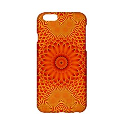 Lotus Fractal Flower Orange Yellow Apple Iphone 6/6s Hardshell Case by EDDArt