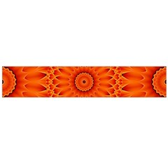 Lotus Fractal Flower Orange Yellow Flano Scarf (large) by EDDArt