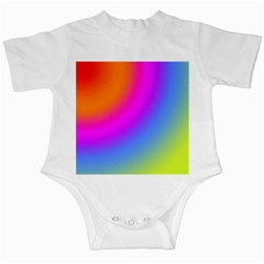 Radial Gradients Red Orange Pink Blue Green Infant Creepers by EDDArt