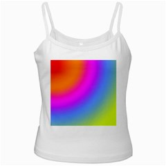 Radial Gradients Red Orange Pink Blue Green White Spaghetti Tank by EDDArt