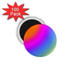 Radial Gradients Red Orange Pink Blue Green 1 75  Magnets (100 Pack)  by EDDArt