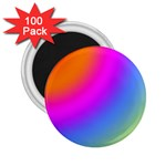 Radial Gradients Red Orange Pink Blue Green 2.25  Magnets (100 pack)  Front