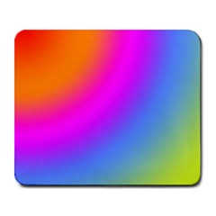 Radial Gradients Red Orange Pink Blue Green Large Mousepads by EDDArt