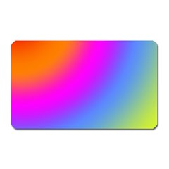 Radial Gradients Red Orange Pink Blue Green Magnet (rectangular)