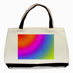 Radial Gradients Red Orange Pink Blue Green Basic Tote Bag by EDDArt