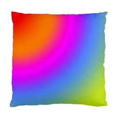 Radial Gradients Red Orange Pink Blue Green Standard Cushion Case (two Sides) by EDDArt