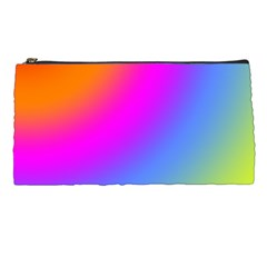 Radial Gradients Red Orange Pink Blue Green Pencil Cases by EDDArt