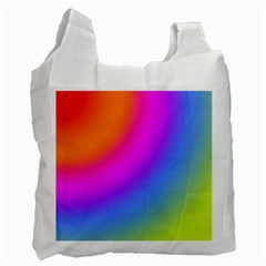 Radial Gradients Red Orange Pink Blue Green Recycle Bag (one Side) by EDDArt