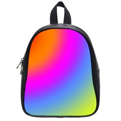Radial Gradients Red Orange Pink Blue Green School Bags (small)  by EDDArt