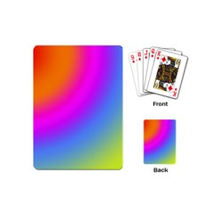 Radial Gradients Red Orange Pink Blue Green Playing Cards (mini)  by EDDArt