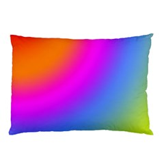 Radial Gradients Red Orange Pink Blue Green Pillow Case (two Sides) by EDDArt