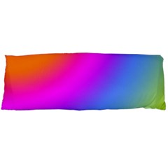 Radial Gradients Red Orange Pink Blue Green Body Pillow Case Dakimakura (two Sides) by EDDArt