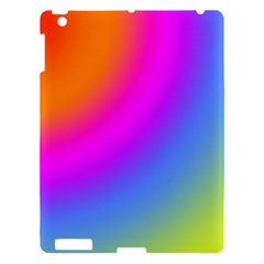 Radial Gradients Red Orange Pink Blue Green Apple Ipad 3/4 Hardshell Case by EDDArt