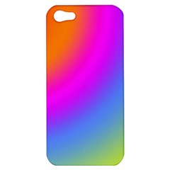 Radial Gradients Red Orange Pink Blue Green Apple Iphone 5 Hardshell Case by EDDArt