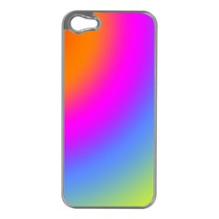 Radial Gradients Red Orange Pink Blue Green Apple Iphone 5 Case (silver) by EDDArt