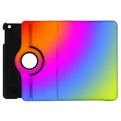 Radial Gradients Red Orange Pink Blue Green Apple Ipad Mini Flip 360 Case by EDDArt