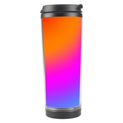 Radial Gradients Red Orange Pink Blue Green Travel Tumbler by EDDArt
